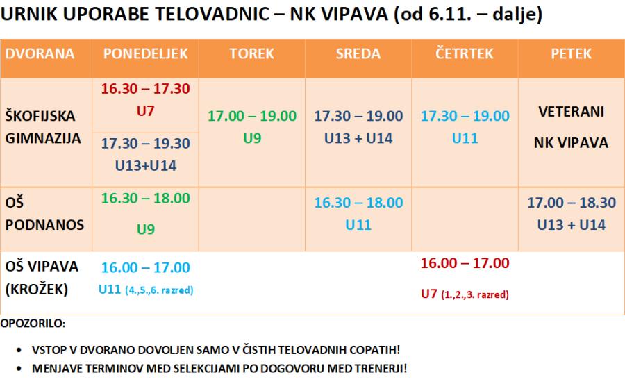 urnik telovadnic 2017-18_NK Vipava